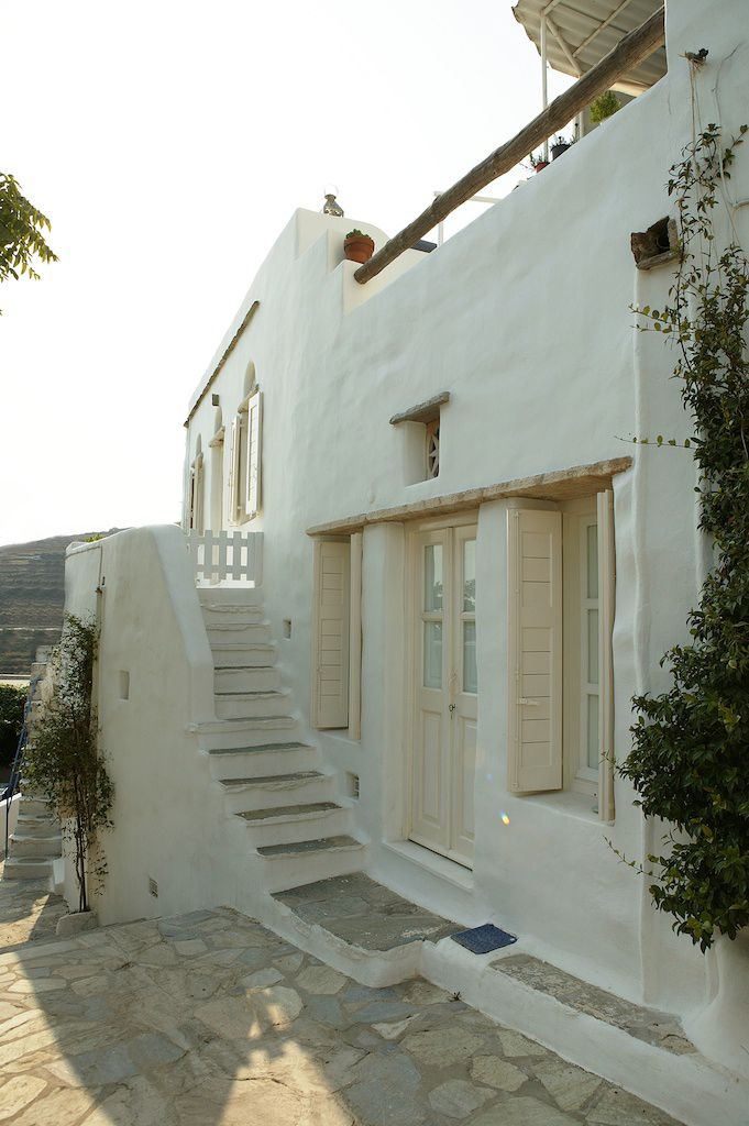 The holiday home of Greek interior designer Marilyn Katsaris, on the island of Tinos. By Zege Architects.