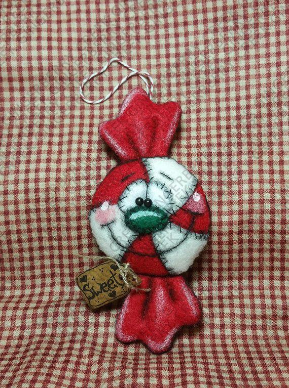 Candy cubrió navidad ornamento patrón 244 por GingerberryCreek