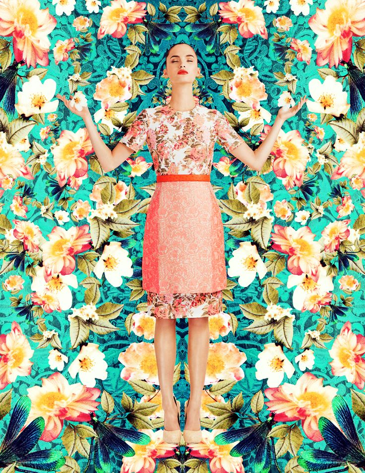 dazzling garden: dalia guenther by ami lafleur for vision china june 2013 | visual optimism; fashion editorials, shows, campaigns & more!