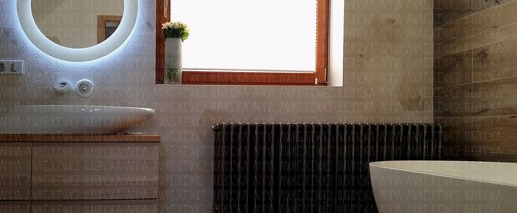 wood hexagonal tiles bathroom