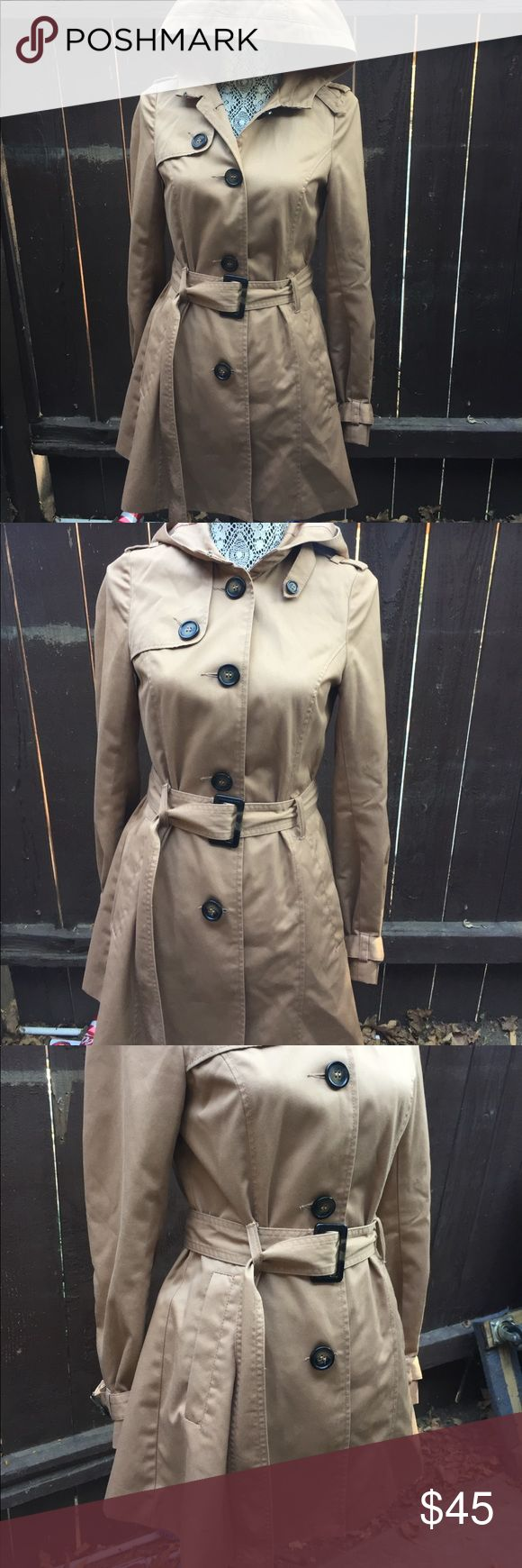 H&M women's Rain trench Coat H&M women's Rain Coat -size 6 - light brown- •65%polyester •35% cotton •lining 100%polyester H&M Jackets & Coats Trench Coats