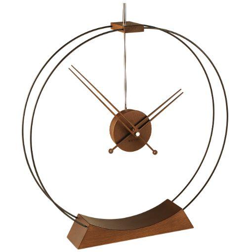 #Reloj de #sobremesa Nomon Aire de fibra negra y madera de fresno