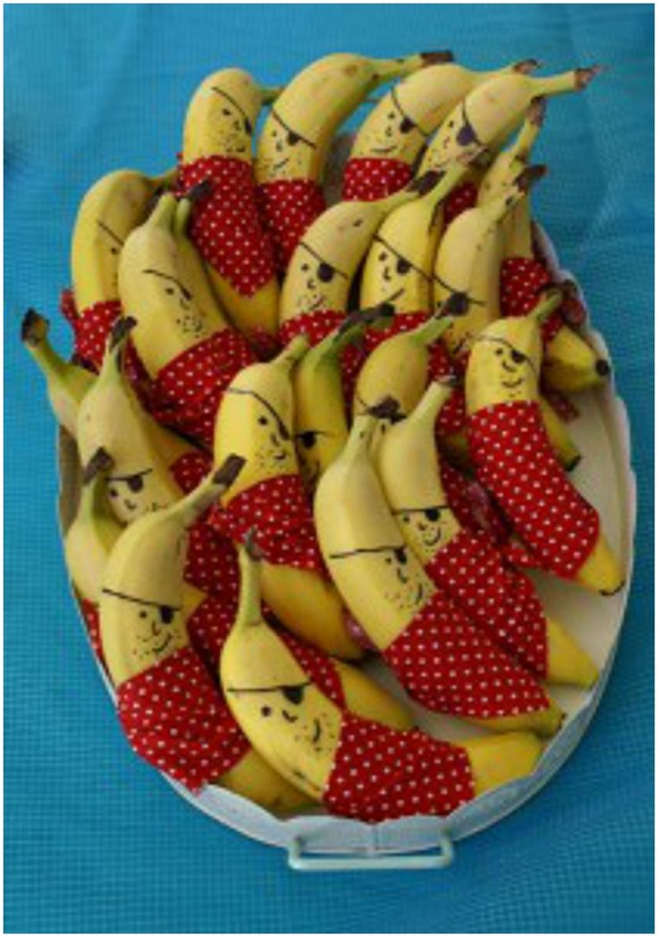 Pirate bananas.... I bet all of the minions would love these  B A N A N A