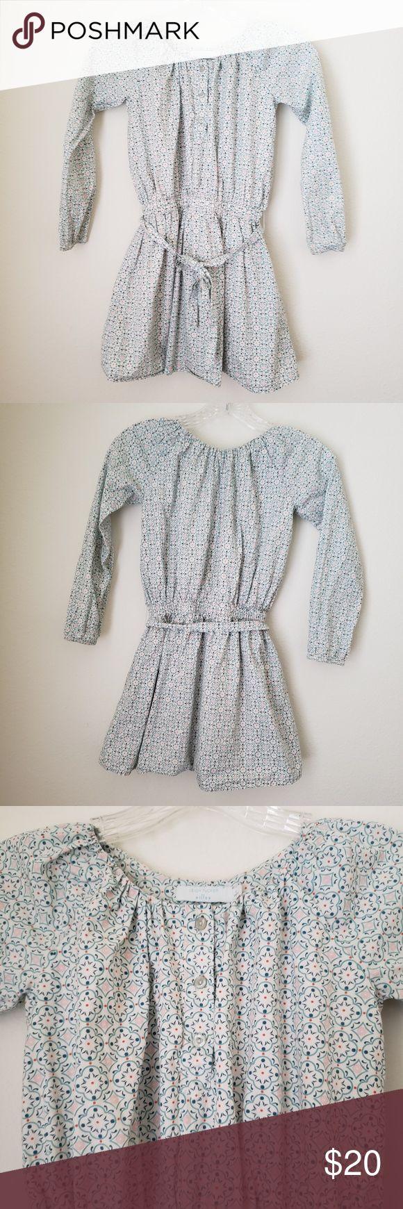 Leigh Tucker Willow Dress GEOMETRIC PRINT -LONG SLEEVE  – BELT   ♡ Length: ~26…
