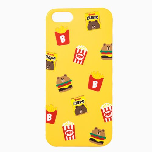 Line Friends Yellow Brown iPhone 6/6s Plus Apple Hard Case Skin Cover Patterned #NaverLineFriends