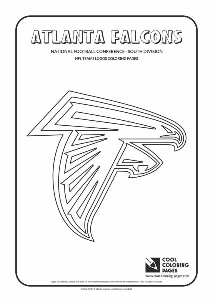 Nfl Logos Coloring Pages Cool Coloring Pages Atlanta Falcons Nfl American Football Football Coloring Pages Atlanta Falcons Nfl Teams Logos