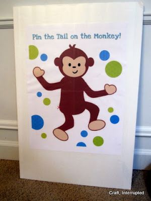 Pin the tail on the monkey