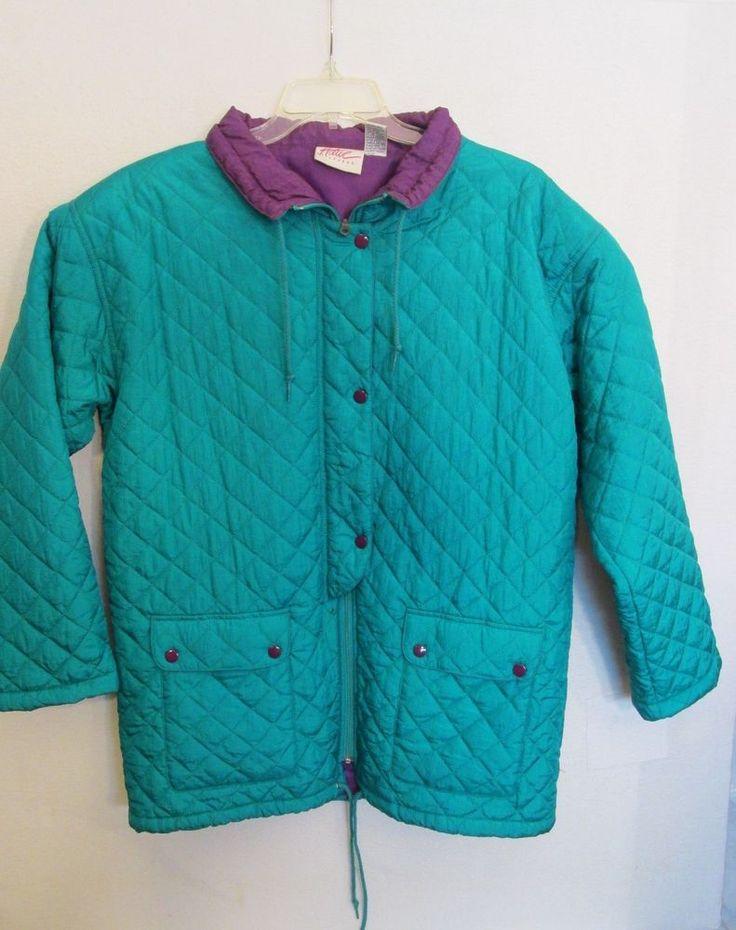 Active Attitudes Women's Coat Jacket Size Large #ActiveAttitudes #BasicCoat
