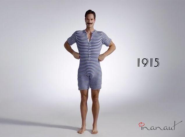 ¡Así es cómo han cambiando los trajes de baño a través del tiempo! #Moda #Man #100Años #Video
