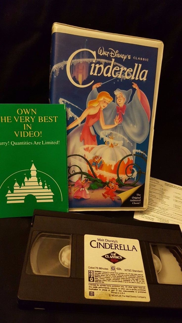 RARE Cinderella VHS Clamshell Black Diamond White Label ...
