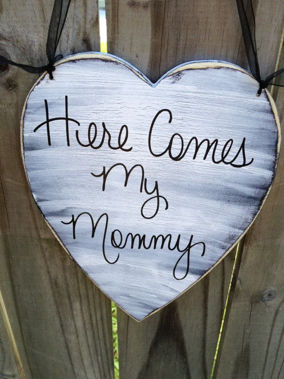 Here Comes My Mommy Wedding Sign by SassySouthernCharm, $18.00