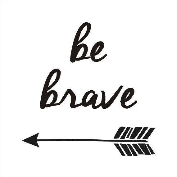 Be BRAVE with Arrow  Sign Stencil  5 sizes por SuperiorStencils