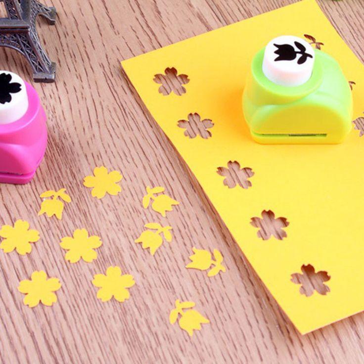 1 PCS Anak Anak Mini Tag Kartu Kertas Cetak Tangan Pembentuk Scrapbook Kerajinan DIY Pukulan Cutter Alat 8 Gaya HOT