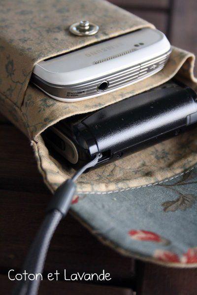 Coton et Lavande: Tutorial: Quiltsmart cell phone bag.
