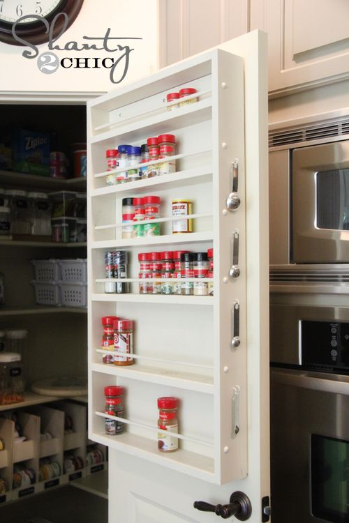 393 best for my kitchen images on pinterest home ideas homes and pantry ideas diy door spice rack solutioingenieria Gallery