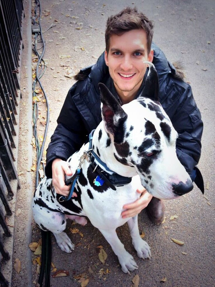 Scott Michael Foster and dogs again. Not fair this guy is hot and he loves dogs. I refuse to date unless it's him!