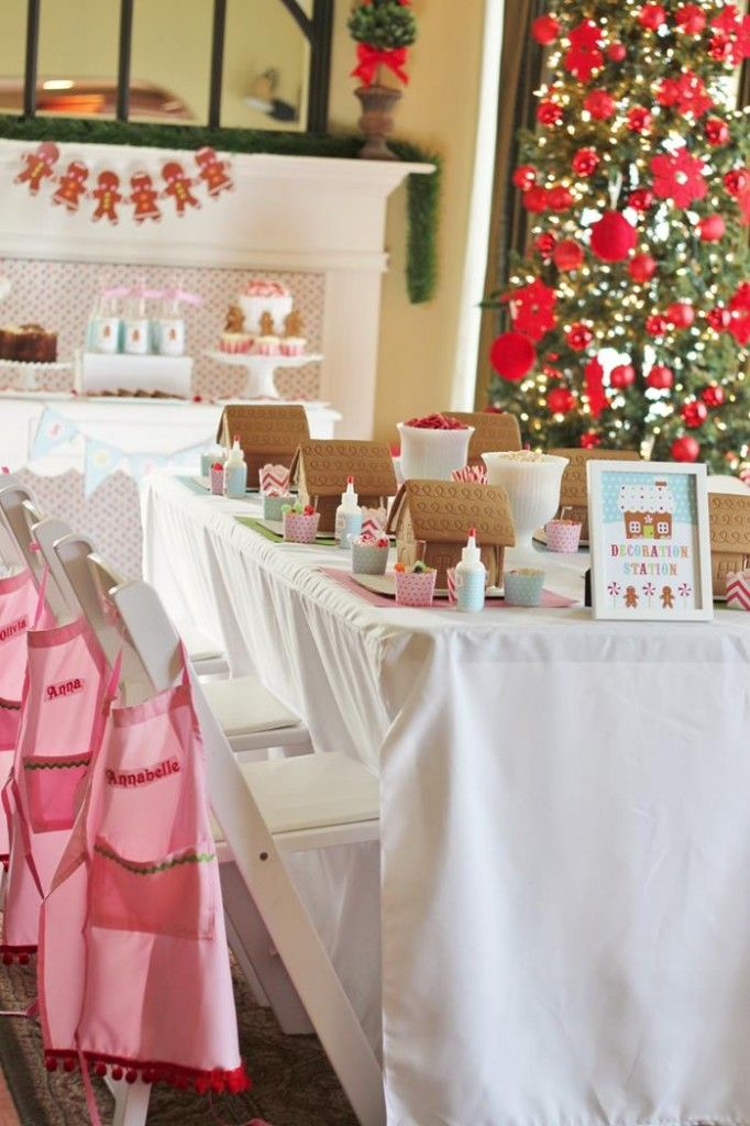 Gingerbread House Decorating Party (for Christmas party or December birthday party)