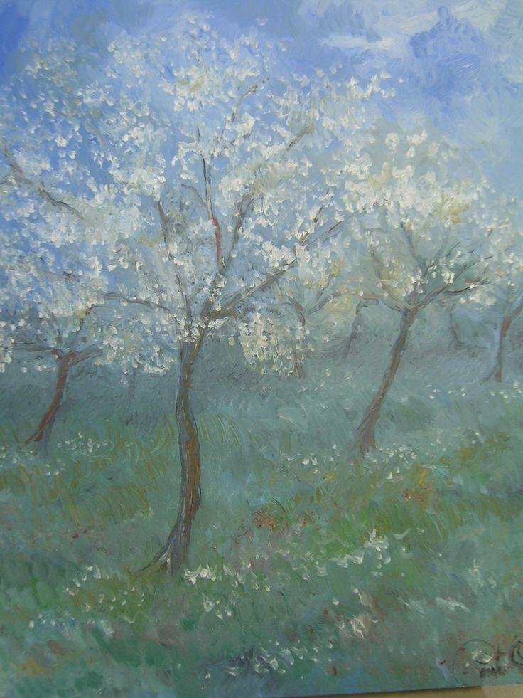 """""""Desiderio di Primavera"""" olio su tela... scopri la mia arte su http://www.arch-garden.it/la-mia-arte.html"""