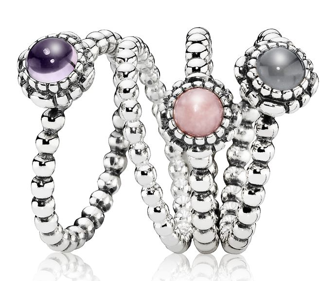 Capri Jewelers Arizona ~ www.caprijewelersaz.com Perfect ring combi for the pastel loving girl PANDORA ring