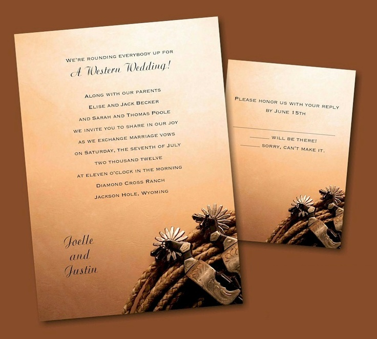 wedding party invitation message%0A RoundUp Western Wedding Invitation        each when you purchase