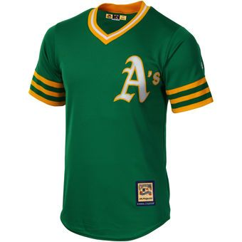 Mens Oakland Athletics Majestic Green Cooperstown Cool Base Jersey