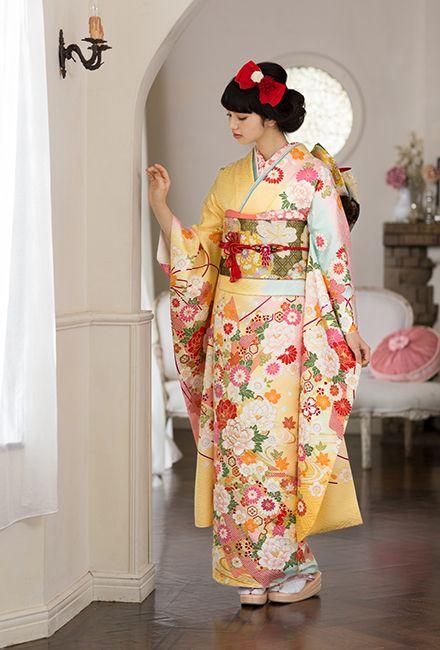 NO.1624 正絹 京友禅 成人式の振袖販売、振袖レンタルの京都きもの友禅