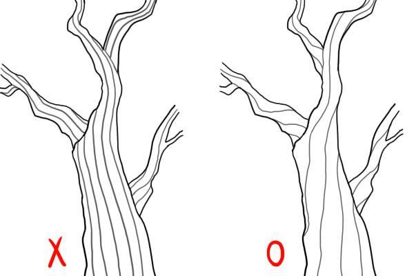 木の幹の描き方 | 絵師ノート