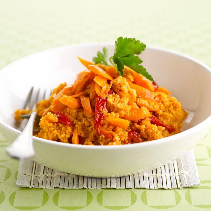 Découvrez la recette Carottes et semoule à la marocaine sur cuisineactuelle.fr.
