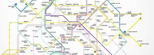 Le site américain Thrillist s'est amusé à remplacer les stations du métro par des troquets de la capitale. Un parcours à consommer avec modération.