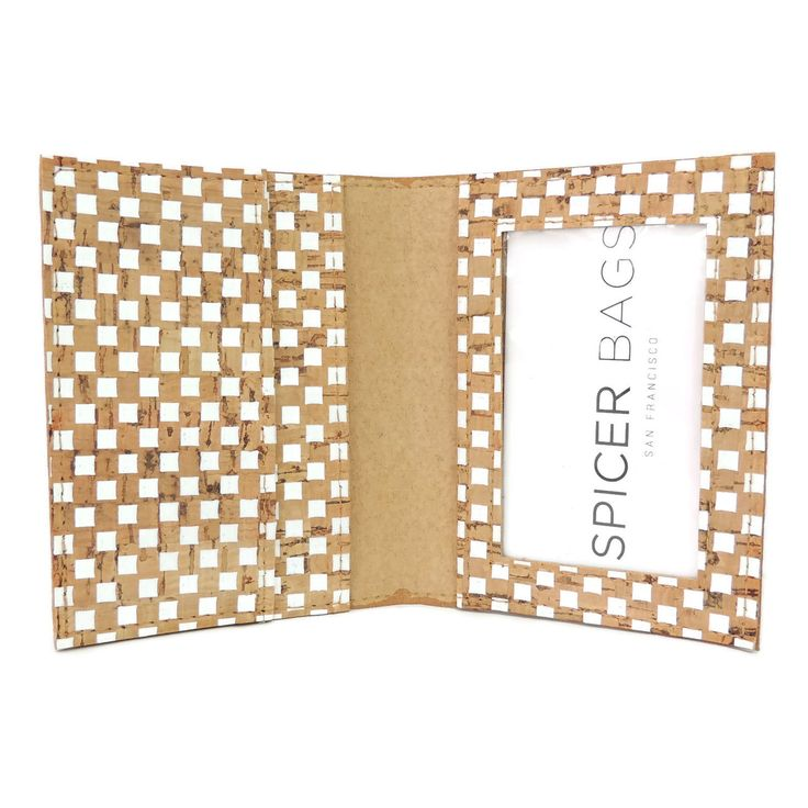 Spicer Bags - ID Wallet in White Check Cork, $27.95 (http://www.spicerbags.com/id-wallet-in-white-check-cork/)