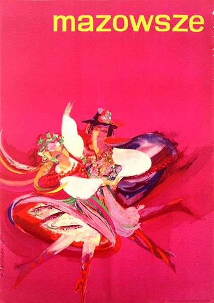 Mazowsze - a Polish folk dance group (1984 - 84 x 55 cm)
