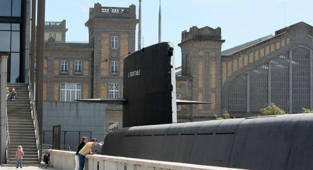 La Cité de la Mer à Cherbourg, en Normandie, parc de loisirs dédié à l'océan profond : aquariums et sous-marins.Une visite et un divertissem...