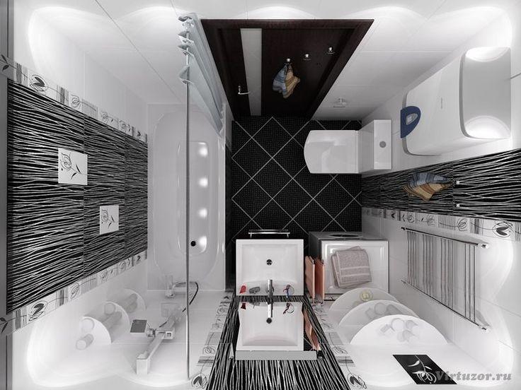 Дизайн маленькой ванной комнаты 34 фото