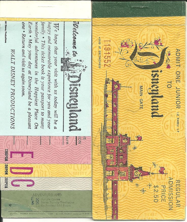 Vintage E ticket Disneyland