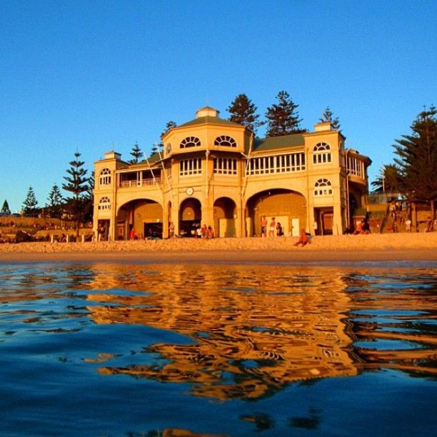 The sunsetting on the Indiana Tea house at Cottesloe Beach Perth Western #Australia      by @matty7619 instagram