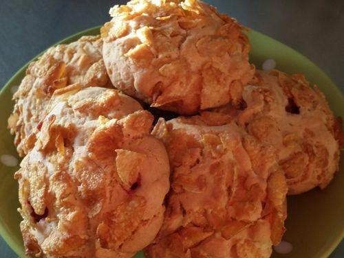 Печенье с кукурузными хлопьями.