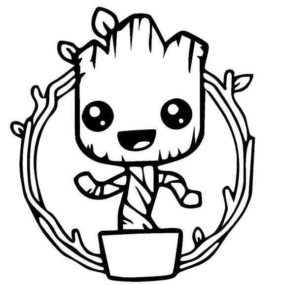 Baby Groot Decal Guardians Of The Galaxy We Now Offer A Decal Of Everyones Favorite Guar Dibujos Tumblr Para Colorear Dibujos Animados Sencillos Dibujos Kawaii