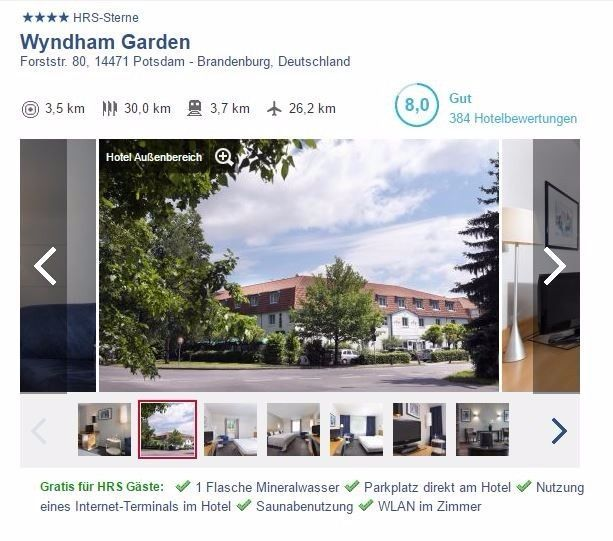 Kurz-Reise Potsdam Brandenburg 2 Personen DZ/Frühst 23.-25.06.17
