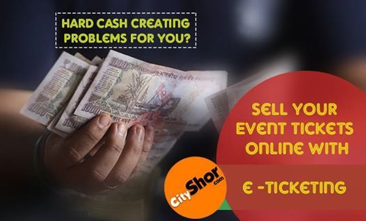 Sell your event tickets online with CityShor e-Ticketing. #CityShor #CityShorETicketing #OnlineTicketing