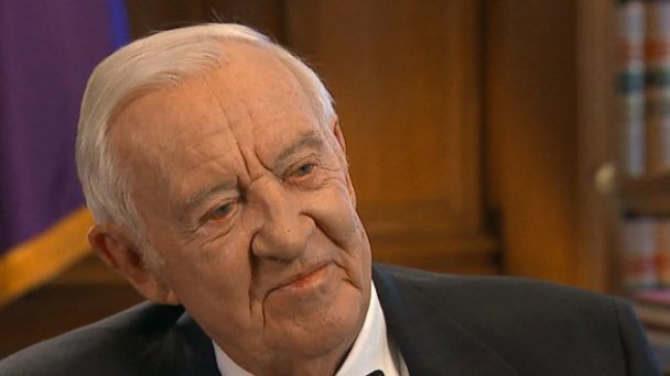 """Justice John Paul Stevens, author of SIX AMENDMENTS on """"This Week""""  with George Stephanopoulos."""