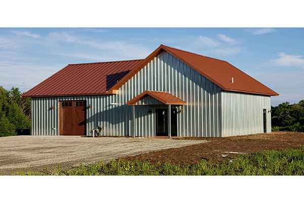 Lester Buildings Post Frame Commercial Building Winery In 2020 Lake Houses Exterior Lester Buildings Backyard Barn