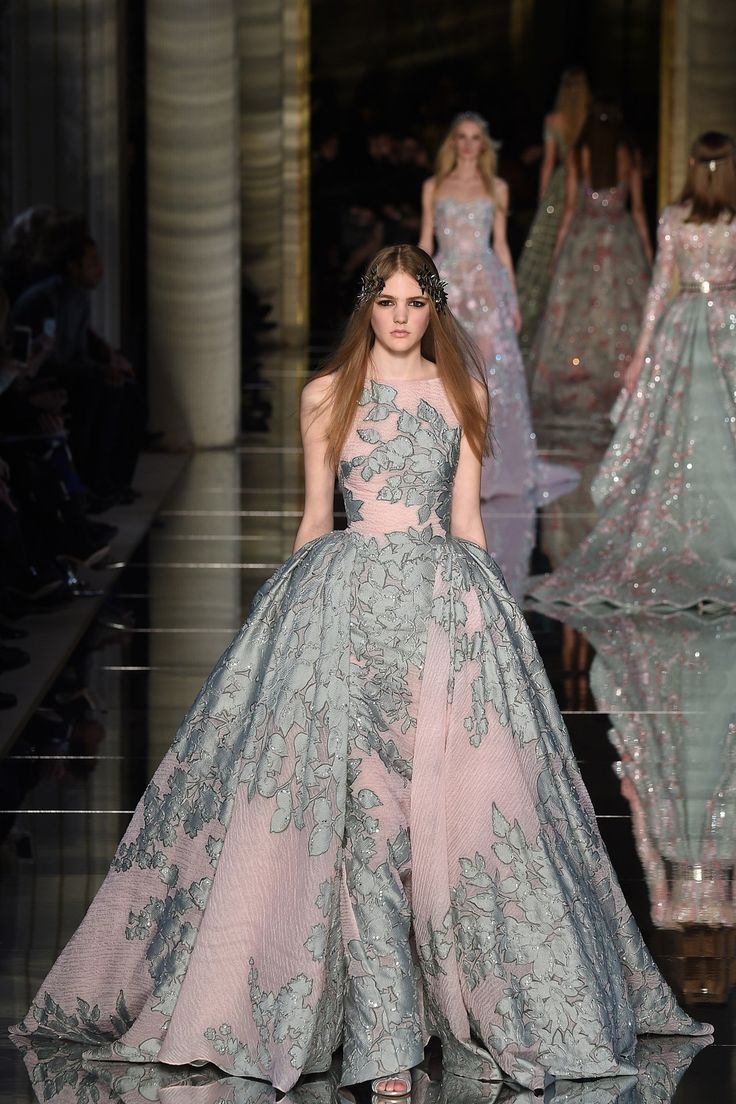 Zuhair Murad Spring/Summer 2016 Couture // Floral print wedding gown inspiration