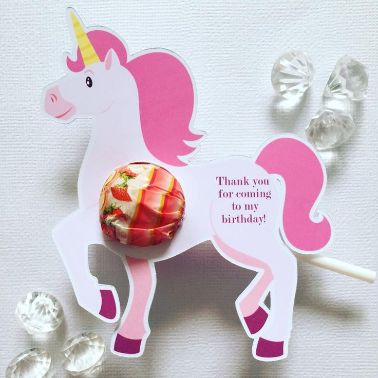 Unicorn party favours - Glitter and Glue Designs