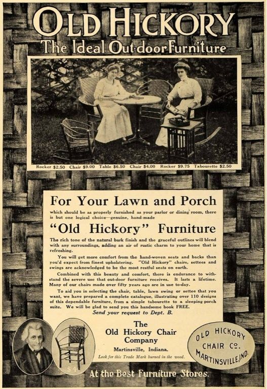 The Old Hickory Chair Co Ad Martinsville Indiana. 192 best Old Hickory  Furniture images on - Antique Old Hickory Furniture Antique Furniture