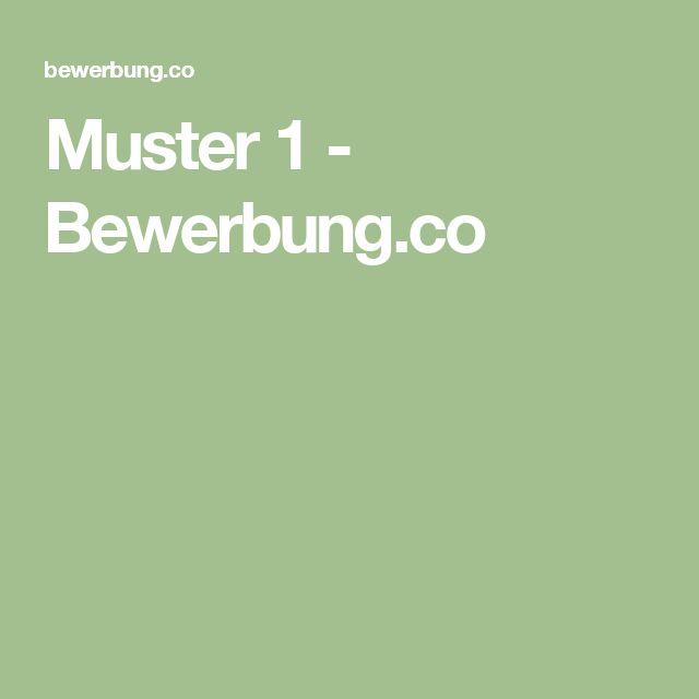 Muster 1 - Bewerbung.co