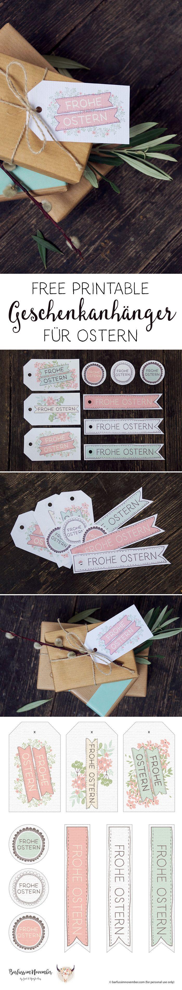 Free printables: Oster-Anhänger für Geschenke.