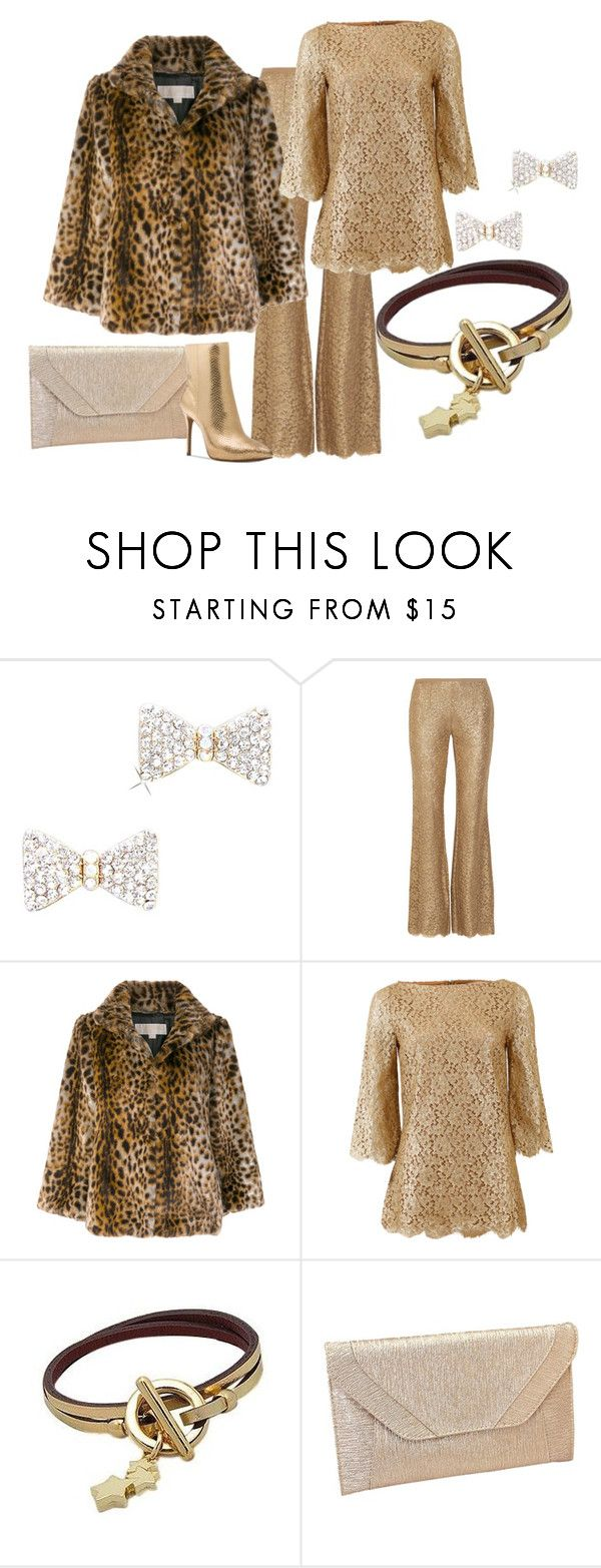 """Michael Kors Gold"" by shoppe23 ❤ liked on Polyvore featuring Michael Kors and MICHAEL Michael Kors"