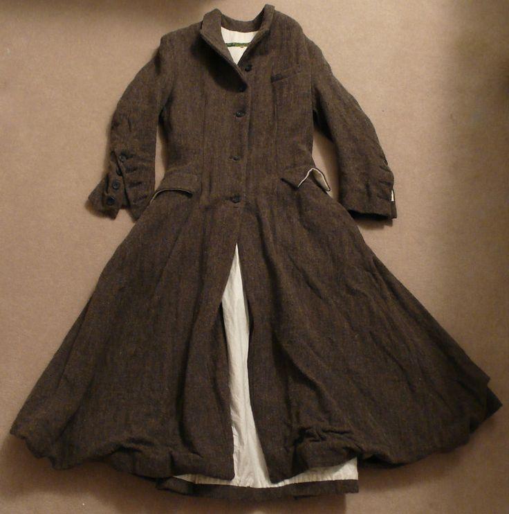STUNNING Paul Harnden Herringbone Wool Tweed 3/4 Length Coat. RARE! SZ 2-4