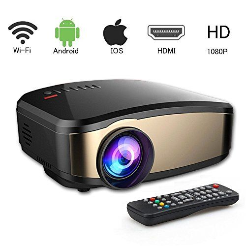 VPRAWLS projector2 Video Projector WiFi Full HD, Wireless Portable Movie Projector With HDMI USB Headphone Jack TV Good For Home Theater Entertainment Game XBOX ONE 130'' Max Display Mini Projector. 【New Updated Wifi Wireless Projector】-The Mini Projector C6 is refreshed and include a few catches the cover , so you, best offer