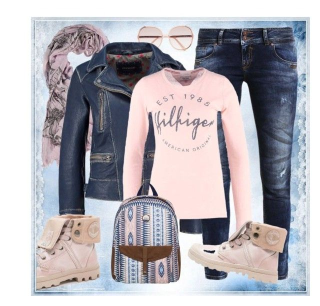 jeans, leather & pink :-) by amisha73 on Polyvore featuring moda, Chloé and Fraas
